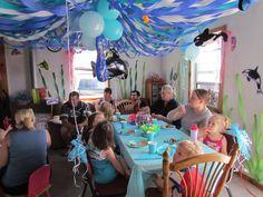 under the sea birthday - Love the seaweed on the wall Birthday Love, Birthday Ideas, Joint Birthday Parties, Sea Fish, Seaweed, Under The Sea, Baby Ideas, Barbie, Beach