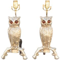 Pair of Owl Andiron Lamps | via @The_Highboy at www.thehighboy.com