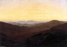 'The Riesengebirge', Oil On Canvas by Caspar David Friedrich (1774-1840, Germany)