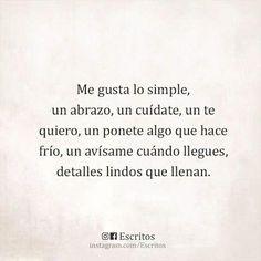 Me gusta lo simple...