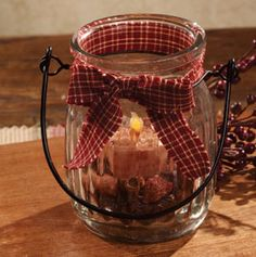 The Country House Online Store;Lil' Candle Jar $11.99