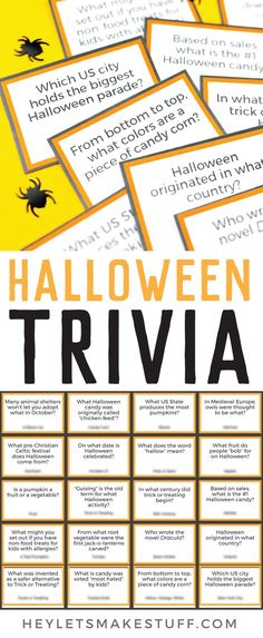 Test your knowledge of the spookiest night of the year with this fun printable Halloween Trivia! Perfect for trivia night or as a fun Halloween activity. Show off your smarts or learn something new!