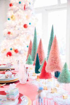 25 idées pour votre table de Noël sur le blog MYDECOLAB >  | #Table #Noël #DIY #blanc #pastel #acidulé #Christmas #Decor