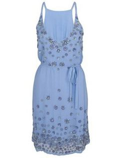 LOVE the colour so so much <3  French Connection Clover sparkle strappy tie dress Lavender - House of Fraser