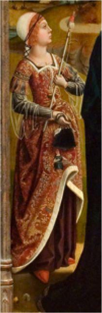 La visitación, Maestro de los Reyes Católicos, 1496-97, Samuel H. Kress Collection, University of Arizona Museum of Art, EEUU (detalle)