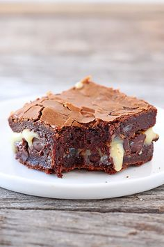 Ultimate Gooey Brownies.  Do you see that fudgy-ness, oozing with sweetened condensed milk?!?!?