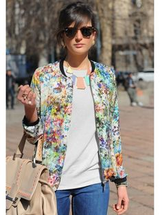 What to wear with a printed spring coat/jacket:  #1: Wear It With All White. #2: Mix Those Prints. #3: Keep Things Casual.