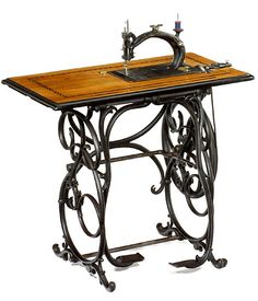 """French Sewing Machine """"Peugeot No. 1891 Unusual French sewing machine made by Peugeot, the – later – famous Fr. Treadle Sewing Machines, Antique Sewing Machines, Sewing Tools, Sewing Tutorials, Sewing Ideas, Sewing Basics, Sewing For Beginners, Emergency Preparedness Kit, Sewing Courses"""