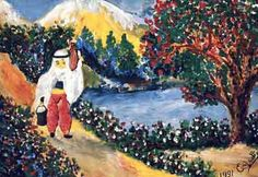 ordinary painting from extraordinary painter, Eşref Armağan was born blind