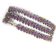 RAW and put Bead in between. make it a 3 wrap bracelet. Fashion Wrap Bracelet Bead Weaving Kit - Beads Gone Wild Seed Bead Jewelry, Jewelry Making Beads, Boho Jewelry, Jewelry Gifts, Beaded Jewelry, Jewelry Making Supplies, Western Jewelry, Pearl Jewelry, Jewelry Findings