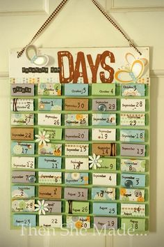 advent calendar by maureen Countdown For Kids, Xmas Countdown, Advent For Kids, Vacation Countdown, Countdown Calendar, Birthday Countdown, Advent Ideas, Deployment Countdown, Advent Calander