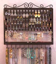 Jewelry Organization. Wall mounted. :)