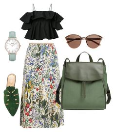 """Untitled #15"" by szlzsnb on Polyvore featuring Gucci, MSGM, Charlotte Olympia, Witchery, CLUSE and Skagen"