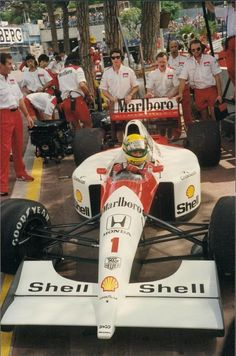 Senna-Marlboro McLaren MP4/6 with Honda engine RA109E
