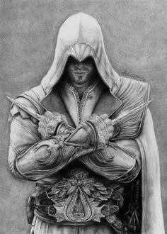 Ezio Auditore (Pencil) ...my sketch of him sucks when compared to this :/