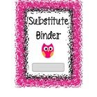 Page dividers/headings for your substitute binder with a glass effect. Also includes a