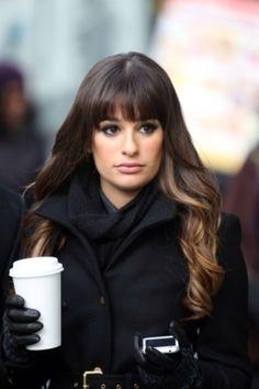Lea Michele brunette ombre hair