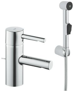 Grohe 32 216 Essence Single Hole Bathroom Faucet with SilkMove and WaterCare Tec Starlight Chrome Faucet Lavatory Single Handle Contemporary Bathroom Sink Faucets, Bathroom Taps, Bathroom Ideas, Bath Ideas, Modern Bathroom, Master Bathroom, Downstairs Bathroom, Garden Bathroom, Bathroom Colors