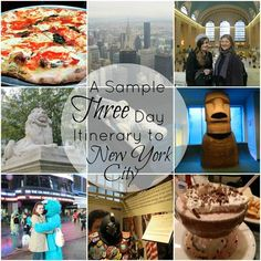 Sample Three Day Itinerary to New York City