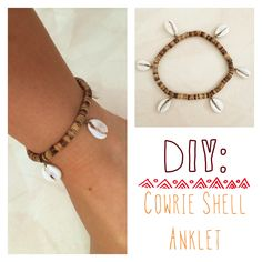 DIY Cowrie Shell Anklet