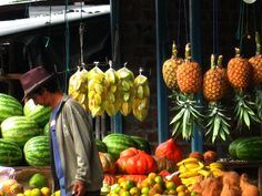 Ecuador--Fruit market on the side of the road
