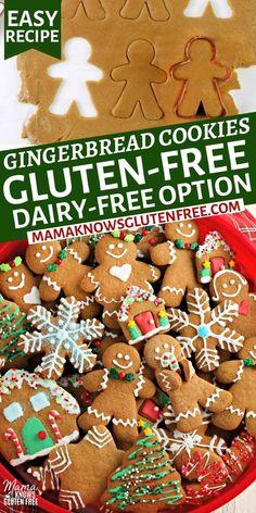 Gluten Free Gingerbread Cookies, Cookies Gluten Free, Gluten Free Christmas Cookies, Gluten Free Cookie Recipes, Gluten Free Sweets, Gluten Free Baking, Xmas Cookies, Pillsbury Gluten Free, Ginger Bread Cookies Recipe