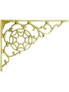 Decopolitan 113225 Leaves Bracket Pair for Shelves Oiled Bronze