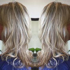 Took a couple inches off Julie's hair then shortened & blended her layers  for more volume!  Thanks for choosing me to do your hair Julie!!!