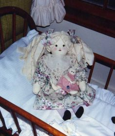 Rag Hair Doll with her Dolly - 1991
