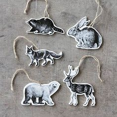 Hunters & Gatherers Ornaments - Set of 5