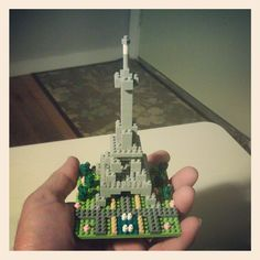 Nanoblock Eiffel Tower!!! In the palm of my hand. Oh Nanoblocks. You're the best.
