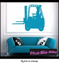 Vehicles Forklift NS015 Wall Decal - Wall Sticker - Wall Mural SWD
