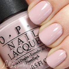 Nude Colors for Spring 2014: OPI My Very First Knockwurst ($8, Drugstore.com) is pale and cool with just the right amount of pink (three coats).