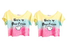 "Tie Dye PASTELS ""She's My Best Friend"" $48....VICTORIA GRILL, next Disney trip!"