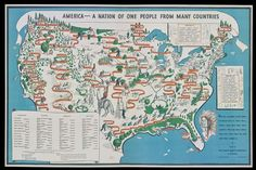 """""""The Powerful 1940 Map That Depicts America as a Nation of Immigrants"""" 