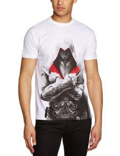 Assassins Creed Brotherhood T-Shirt - Camiseta manga corta unisex Ezio, talla S #camiseta #friki #moda #regalo