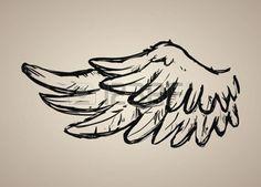 line drawing of angel: Angel design over beige background, vector illustration, Illustration