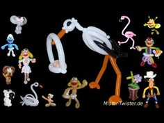 Balloon Animals Stork Baby, Ballon Tiere Storch Baby, Modellierballon Ballonfiguren - YouTube