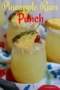 Rum Punch Pineapple Rum Punch is the party punch of summer. It is like taking a trip to the tropics with just one sip.Pineapple Rum Punch is the party punch of summer. It is like taking a trip to the tropics with just one sip. Party Drinks Alcohol, Alcohol Drink Recipes, Liquor Drinks, Easy Rum Drinks, Coconut Rum Drinks, Easy Mixed Drinks, Easy Alcoholic Drinks, Beverages, Fruity Drinks With Rum