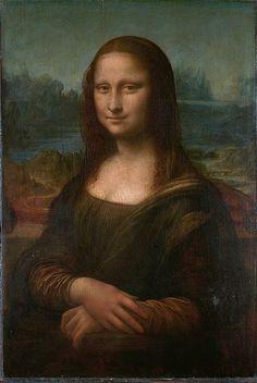 Leonardo, Mona Lisa, c. 1503-6 (Louvre)  Mona Lisa – Portrait of Lisa Gherardini, wife of Francesco del Giocondo | Louvre Museum | Paris