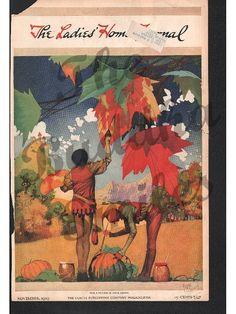 Sale, Vintage Magazine Cover, Ladies Home Journal November 1919 artist Frank Godwin (1242)