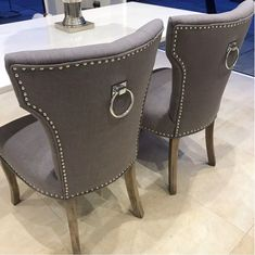 Ring Back Dining Chair Grey Sparkle Homes