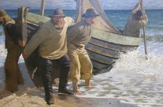 The Skagen Painters (Danish: Skagensmalerne) were a group of Scandinavian artists who gathered in the village of Skagen, the northernmost part of Denmark, from the late 1870s until the turn of the century. Skagen was a summer destination whose scenery and