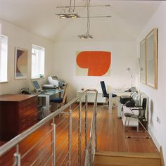 Big Orange is a woodblock diptych print available framed or mounted onto aluminium dibond. Fine Art Prints, Orange, Big, Table, Furniture, Home Decor, Decoration Home, Room Decor, Art Prints