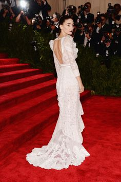 Rooney Mara in Givenchy at Met Gala 2013 Red Carpet Arrivals Would make a beautiful wedding dress!