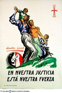 """""""Our Justice Is Our Strength"""" Ww2 Propaganda Posters, Political Posters, Frente Popular, Barcelona, Party Poster, Old Ads, Set You Free, Ms Gs, Civilization"""