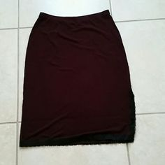 New York & Co. Skirt Purple skirt with laced side slit. New York & Company Skirts