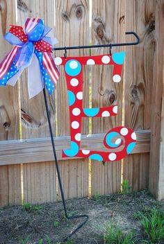 Love the metal initials for the yard, door, wall, or added to a wreath!