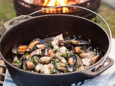 """Fish potjie • Jennifer Matthews from Johannesburg sent us this Fish Potjie recipe. """"This recipe comes from an old magazine in the days when crayfish was readily available. Back then we made the potjie with crayfish and three to four types of fish."""""""