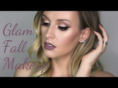 Glam Fall Makeup - Morphe 35O Palette - Lashes Love & Leather - YouTube